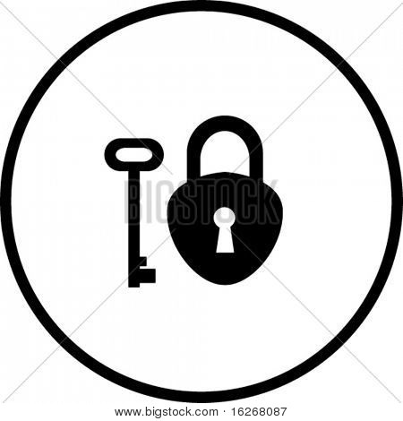 antique padlock symbol