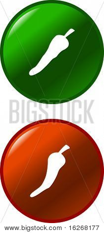 chili pepper buttons