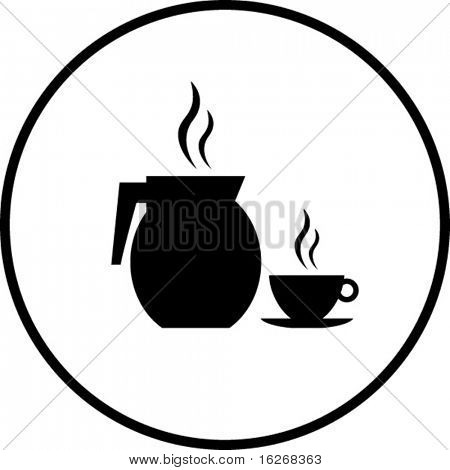 coffee pitcher and cup symbol