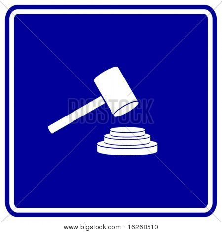 judging or auction hammer symbol