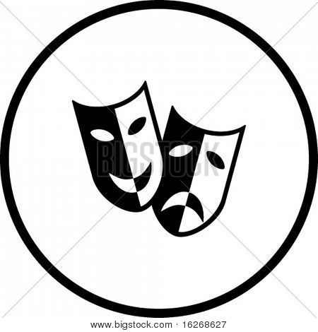 theater masks symbol
