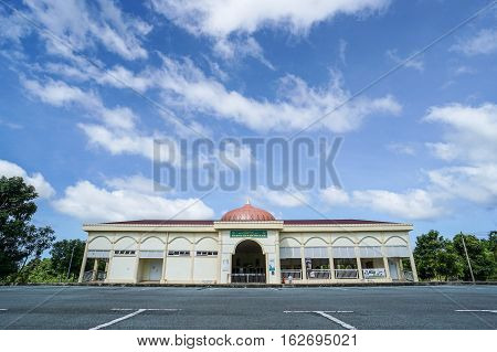Labuan,Malaysia-Dec 22,2016:Al Ubudiyyah Bukit Kuda mosque at Labuan,Malaysia.Islam is the predominant religion of Malaysia and is recognised as the state's official religion.