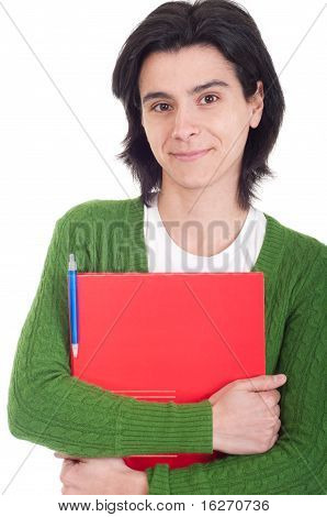 Woman Holding Dossier