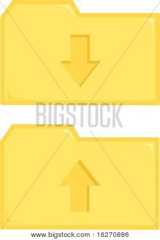 file transfer folders icons