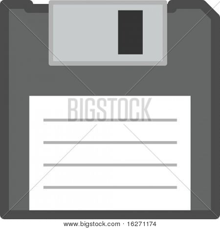 floppy disk or diskette front