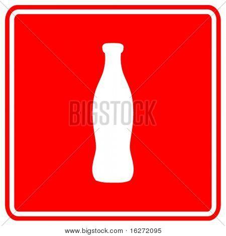 signo de botella de bebida