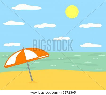 parasol in a beach