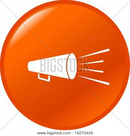 bullhorn or megaphone button