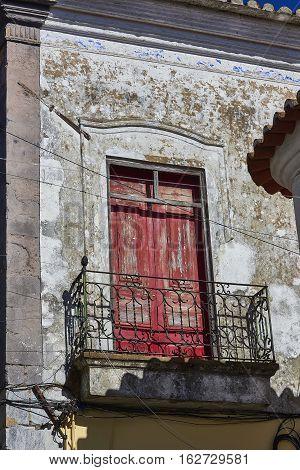 Antique European Building With Balcony. Spain