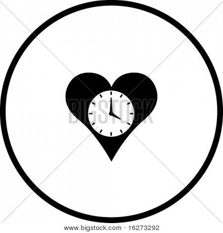 heart time symbol