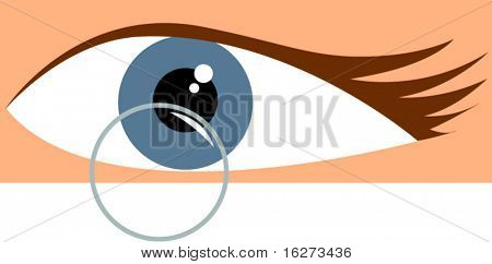 eye and contact lens