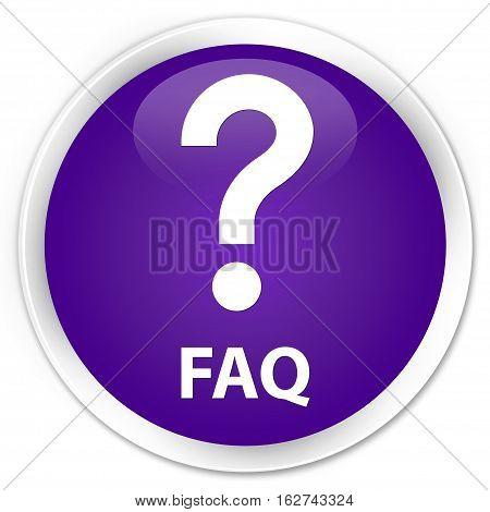 Faq (question Icon) Premium Purple Round Button