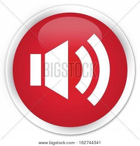 Volume Icon Premium Red Round Button