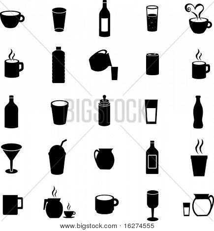beverages and drinks symbol set 2