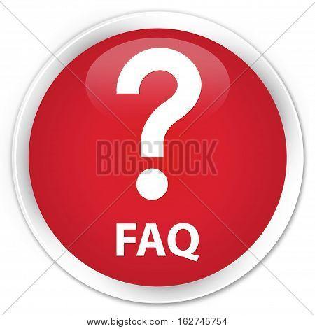 Faq (question Icon) Premium Red Round Button