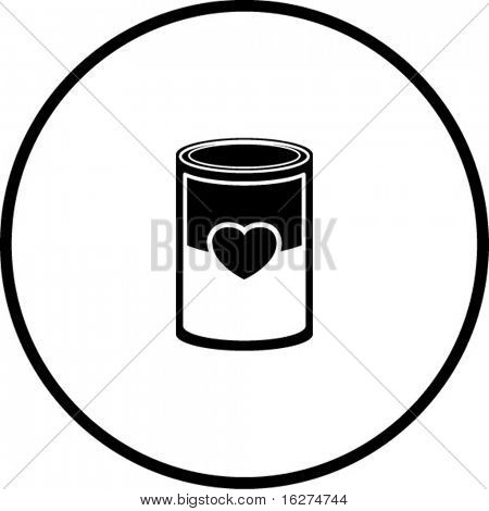 love soup or canned love symbol