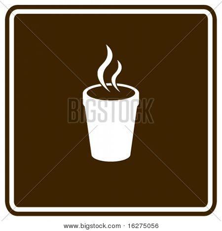 Styropor Tasse heißes Getränk Zeichen