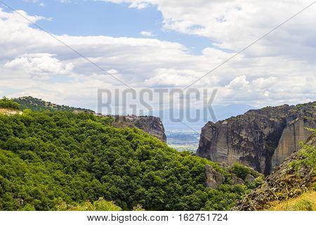 Meteora Monasteries, Incredible Sandstone Rock Formations. Greece
