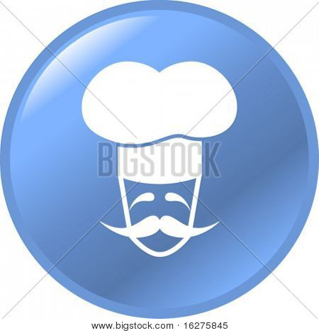 french chef character button