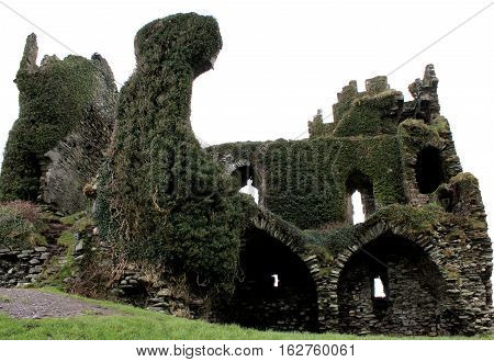 Ballycarbery Castle ruins in County Kerry, Ireland