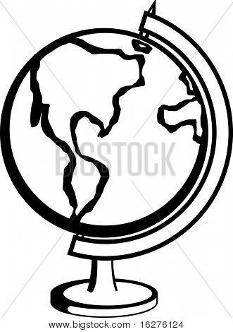 globo de tierra del planeta