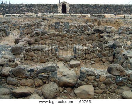 Ruins Of Roman-Byzantine Houses In Capernaum/Israel
