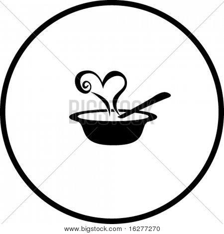 símbolo de sopa de amor