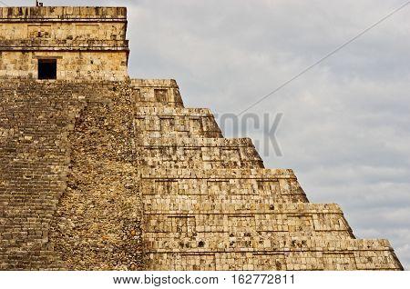 Pyramid In Chichen Itza, Yucatan, Mexico