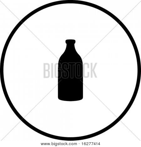 medicine bottle or milk jar symbol