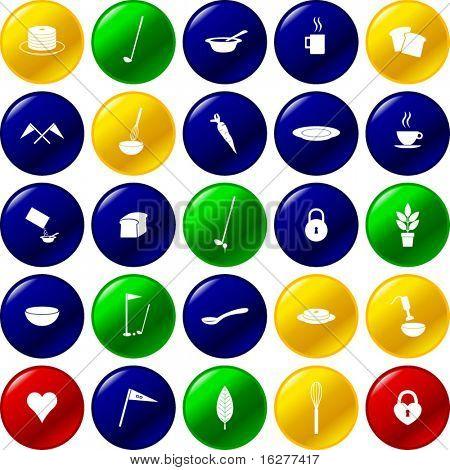 diverse vector buttons set