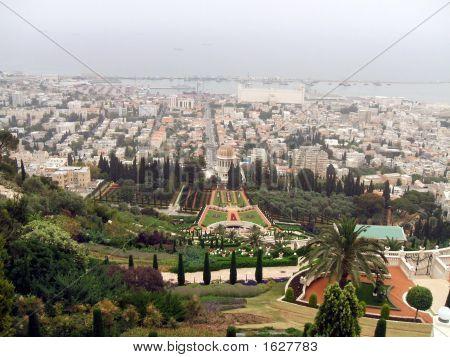 Haifa. Panoramic View Of Haifa City In Israel
