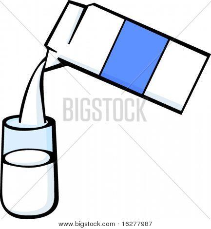 serving milk in a glass