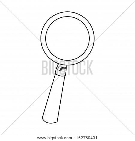 Lupe tool icon. Search magnifying glass zoom and lens heme. Isolated design. Vector illustration