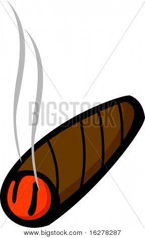 lighted cigar