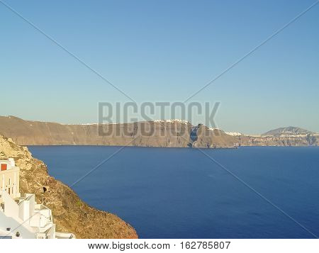 Amazing View From Oia Village At Santorini