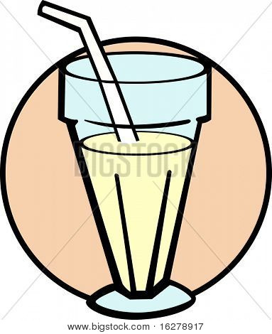 milk shake in a glass