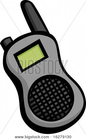portable two way radio or police and emergency scanner