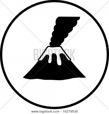 volcano mountain smoking symbol