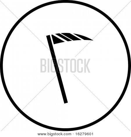 scythe agriculture tool or grim reaper death blade