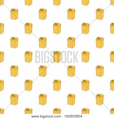 Yellow trash pattern. Cartoon illustration of yellow trash vector pattern for web