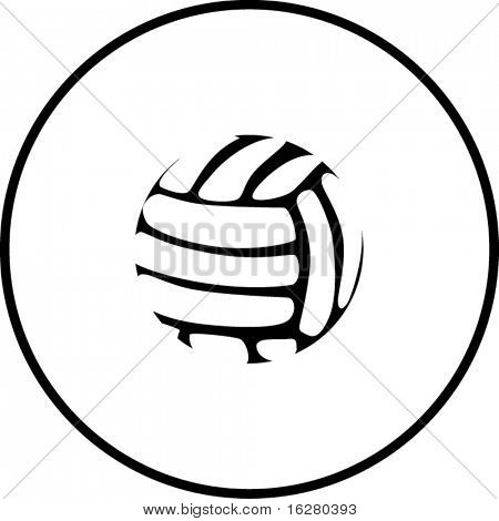 volleyball or handball ball symbol