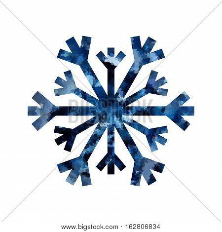 Christmas Snowflake Mosaic Isolated Illustration
