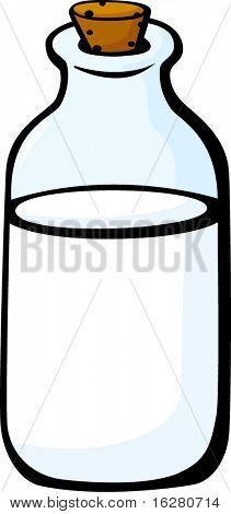 牛奶瓶带软木盖 库存矢量图和库存照片 | bigstock