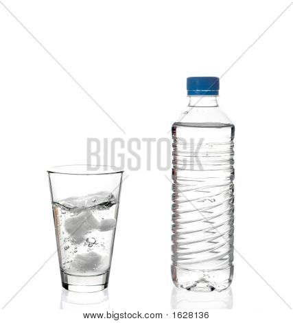 Water Bottle And A Glass Of Water