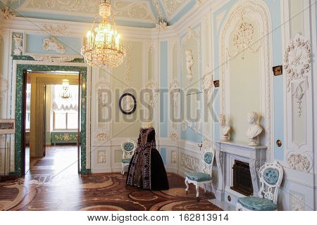 Gatchina, Russia - 3 December, Dressing Maria Feodorovna, 3 December, 2016. Visit the Museum Reserve Gatchina Palace.