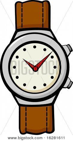leather band wrist watch