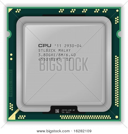 CPU multinúcleo moderno