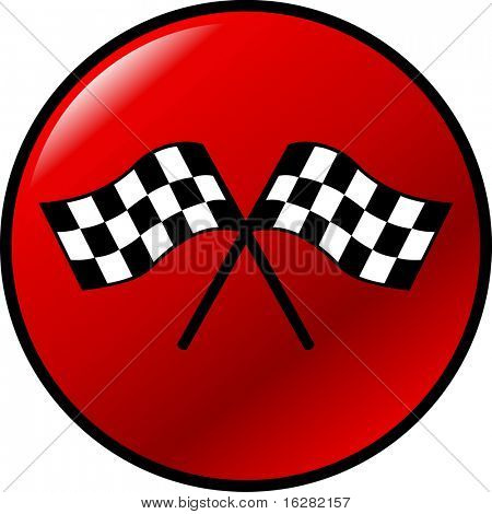 checkered racing flags button
