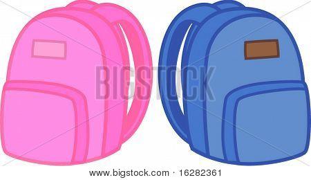 jungen und Mädchen-Schule-packpacks