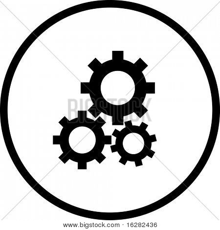 gears engaged symbol